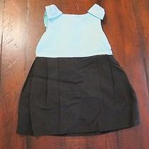 Janie and Jack High Tea Black Tiffany Blue Audrey Hepburn Dress 12-18 M Nwt Photo