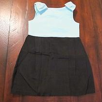 Janie and Jack High Tea Holiday Black Tiffany Blue Colorblock Dress 18-24m Nwt Photo