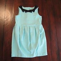 Janie and Jack High Tea Tiffany Blue Ponte Bow Dress 4 Nwt Vhtf Photo