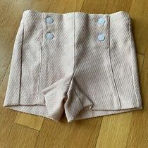 Janie and Jack Nwt Blush Tweed Girls Bermuda Shorts 2t With Adjustable Waist Photo
