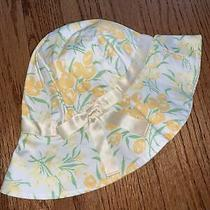 Janie and Jack Nwt Sz 2t-3t in Bloom Yellow Tulip Hat Photo