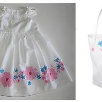 Janie and Jack Resort Collection Bow Floral Dress Tote Bag White 2 2t Nwt  Photo