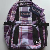 Jansport Air Cure Large Backpack Plaid Laptop School Gym Outdoor. Photo