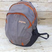 Jansport Air Lift Backpack School Book Bag Gel Pad Straps Orange Gray Unisex Photo