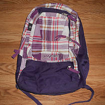 Jansport Airlift Purple Plaid Backpack/laptop Case Photo