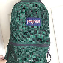 Jansport All Mesh C-Thru See Through Dark Hunter Forest Green Backpack Euc Photo
