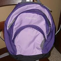 Jansport Backpack - 2 Tone Purple - Very Good Condition Photo
