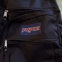 Jansport Backpack Black  Book School Bag Photo