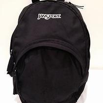 Jansport Backpack Black Lots of Pockets School College Bag Hiking Euc Photo