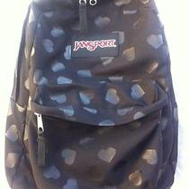 Jansport Backpack Black With Hearts Photo
