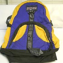 Jansport Backpack Blue and Yellow Photo
