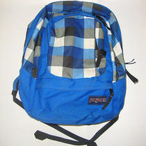 Jansport Backpack Blue Plaid Photo