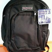 Jansport Backpack Book Bag Authentic Black With Tags Free Shipping Photo
