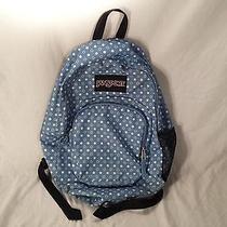 Jansport Backpack Book Bag Blue Polka Dot Photo
