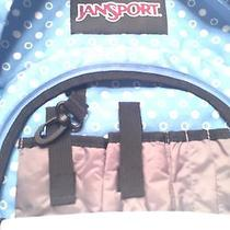 Jansport Backpack Book Bag Blue Polka Dot Photo
