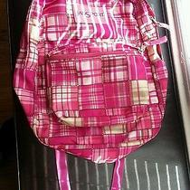 Jansport Backpack/ Book Bag /daypack - Pink Plaid Photo