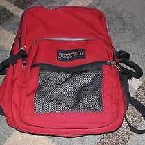 Jansport Backpack Book Bag Red Photo