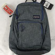 Jansport Backpack Broadband Digital Padded Laptop Sleeve Grey Vanishing Blue  Photo