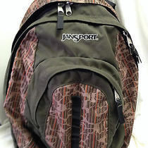Jansport Backpack Camoflage Three Sections Side Water Bottle Holder Photo