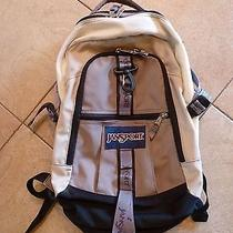 Jansport Backpack Daypack Hiking Trail School Adult Size Tan Multi Pocket Photo