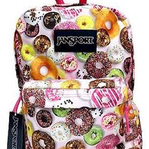 Jansport Backpack for Teens Cute Bookbag for College Girls Donut Print New Photo