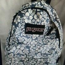 Jansport Backpack Hawaiian Floral Print - Blue and White Photo