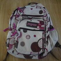 Jansport Backpack - Khaki and Purple Photo