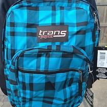 Jansport Backpack Luggage Book Bag - Blue Plaid Photo