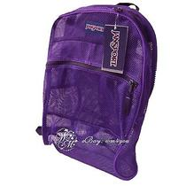 Jansport Backpack Mesh Spectrum Big Student See Through Pool Bag New Photo