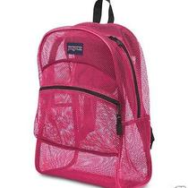 Jansport Backpack Mesh Tulip Big See Through Summer Pool Student Beach Bag New Photo