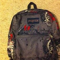 Jansport Backpack Paint Splatter Design 2 Pocket Euc Photo
