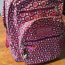 Jansport Backpack Polka Dot Pink Purple Grey Frog Decoration Photo