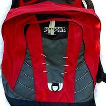Jansport Backpack Red Black College High School Photo