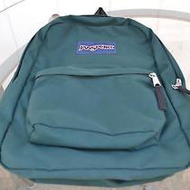 Jansport Backpack School Book Bag Green Streak   Photo