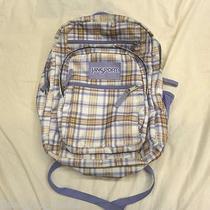 Jansport Big Student 34l Blue Streak Backpack Block Check School Shoulder Bag Photo