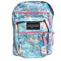 Jansport Big Student Backpack Bs Pastel Marble Blue Pink Large School Bag New Photo