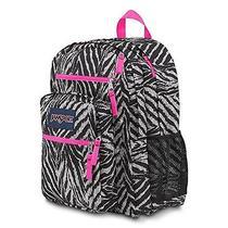 Jansport Big Student Backpack Case School Book Storage Bag Zebra Photo