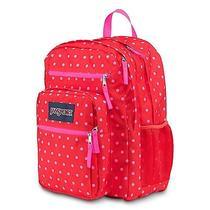 Jansport Big Student Backpack Case Shcool Book Storage Bag Pink Dots Photo