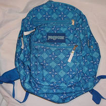 Jansport Big Student Backpack Daypack Tdn7 Calypso Blue Grunge Photo