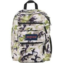 Jansport Big Student Backpack - Pesto Green Multi Spread Camo - 17.5