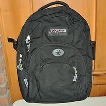 Jansport Big Student Black Large Backpack Bookbag Laptop Bag School New Photo