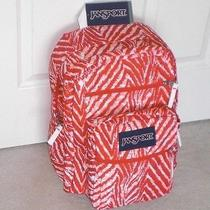 Jansport Big Student Coral Peach Wild Heart Backpack Nwt  Photo