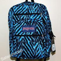 Jansport Big Student School Laptop Backpack Mammoth Blue Wild Heart New W/ Tags Photo