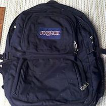 Jansport Black Backpack Large Book Bag Laptop Tablet Computer Bookbag Photo