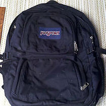 Jansport Black Backpack Large Book Bag Laptop Tablet Computer Bookbag Photo