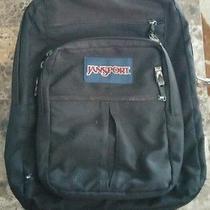 Jansport Black Backpack School Book Bag Euc Photo