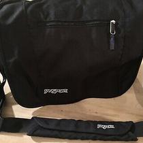 Jansport Black Blue Messenger Cross Body Shoulder Bag Tote Photo