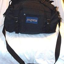 Jansport Black Duffle Gym Travel College Camping Bag Euc Photo