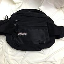 Jansport Black Fanny Pack Travel Bag Three Zippered Sections Made in the Usa Photo
