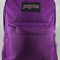 Jansport Black Label Superbreak Backpack School Bag Vivid Purple/gray New Photo